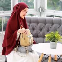 Termurah! Bergo Tali 2 Layer Khimar Kayla | Jilbab Instant 2 Layer