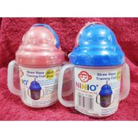 NINIO Training Cup with Straw Anti Tumpah - Gelas Minum Anak Sedotan