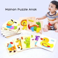 Puzzle kayu Gambar Hewan Animal Puzzle Toys Mainan Anak TO-A12 - CARPENTERWORM