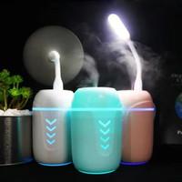 Pelembab Udara 3 In 1 / Humidifier + Kipas + Lampu LED