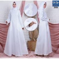AGNES - H/W Baju Gamis Putih Wanita Busana Muslim Lebaran Terbaru B006