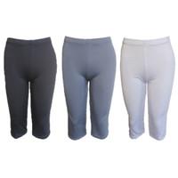 Pakaian Wanita Celana Legging Selutut 7/8 Cewek Ukuran Jumbo Besar