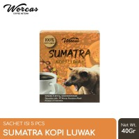 WORCAS Sumatra Kopi Luwak Sachet (5pcs)