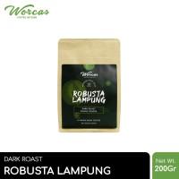 WORCAS Kopi Robusta Lampung 200gr - Medium Dark Roast
