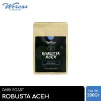 WORCAS Kopi Robusta Aceh 200gr - Medium Dark Roast