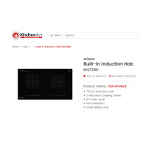 Ariston Built-in Induction Hob NIG720BI