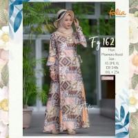 Gamis Folia FG 162 Salem Maxmara Royal Batik Lebaran Dress Pesta Syari