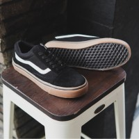 Vans Oldskool Hitam Sol Gum Sepatu Pria Sneakers Original Murah
