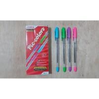 Pen ZEBRA PICCOLO Pena, Pulpen, Ballpoint 0.7 HITAM / PIC-COLORS