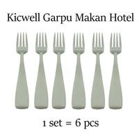 Kicwell Sendok Garpu Makan Hotel (6 pcs) - Garpu Hotel
