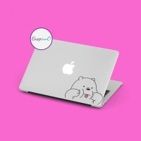 Decal Sticker Macbook Stiker Kartun We Bare Bear Ice Bear Laptop