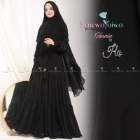 GHANIA by Hawwa Aiwa Gamis Set Khimar Syari High Quality ORI Brand