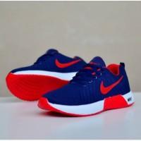 Sepatu sneakers nike zoom running navy red new 212