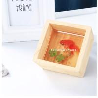 Stiker Film Bening 3D untuk Resin DIY Ikan Koki 5 Pcs