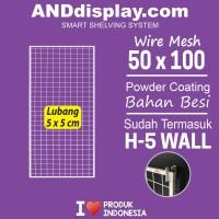 WIRE MESS 50x100CM + H5 WALL /KAWAT/RAM/DISPLAY/MINIMARKET/AKSESORIS