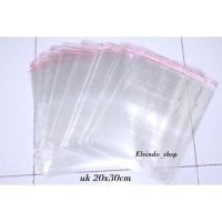 Plastik Opp Tebal 0,5 uk 23x30 dan 25x35/plastik Bening seal Lem