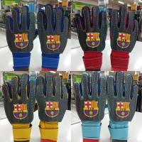 sarung tangan kiper goalkeeper gloves anak logo bola barcelona barca