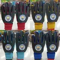 sarung tangan kiper goalkeeper gloves anak logo bola manchester city