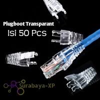 Plug Boot Plugboot RJ45 Sarung Konektor CAT5E CAT6 Transparan Plastik