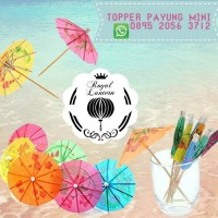 Payung/kertas/mini/topper/dekorasi/kue/tumpeng/minuman/party/pesta