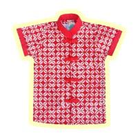 Pop Kidswear Xi Cheongsam Batik Shirt - kemeja batik anak merah CNY