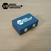 BRIDGE Converter Gitar Soundcard V8 Dual Channel 6.5mm to 3.5mm