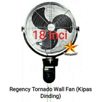 Kipas Dinding Besi Regency Tornado Wallfan 18 inci Kipas Mesjid