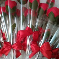 Single Rose - Buket Setangkai Mawar - Buket Mawar - Bouquet Bunga Flan