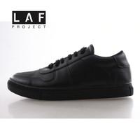 Sepatu Sneakers Pria Hitam Full Black Original Air Adam LAF Project