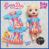 Baju Dress Kaos Baby Alive Kostum Sunny Day
