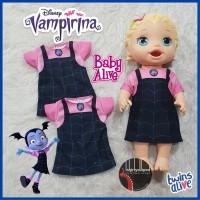 Baju Dress Kaos Baby Alive Kostum Vampirina