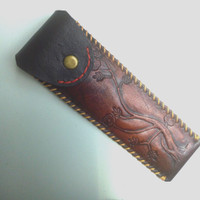 Sarung Kulit Pipa rokok gading tanduk tembakau cangklong