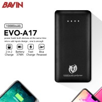 Portable PowerBank 10000mAh 37Wh 2A Quick Charge Pesawat EVO A17