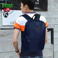 COD - Backpack Laptop Murah KB020 Tas Pria Tas Ransel Pria - Blue