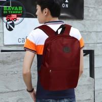 COD - Backpack Laptop Murah KB020 Tas Pria Tas Ransel Pria - Red