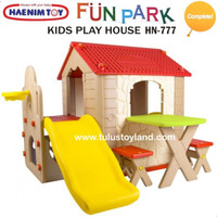 Haenim Fun Park Kids Play House with Slide Rumah Rumahan Perosotan