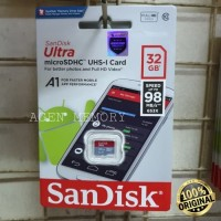 Memory Card MicroSD MIcro SD Sandisk Ultra Class 10 32GB 32 GB 98MB