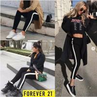 Forever21 SIDE STRIPE Legging Wanita - Celana Wanita Branded