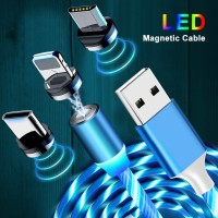 KABEL DATA USB MAGNETIC CHARGER LED FAST CHARGING IPHONE MICRO TYPE C