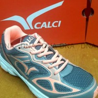 Sepatu Running Calci Dallas Woman Grey / S. Orange - ORIGINAL - 38