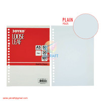 Kertas Binder Note Loose Leaf A5 isi 50 Putih Polos Tebal 20 Lubang