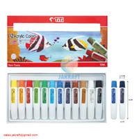 Cat Lukis Akrilik Acrylic Paint Set 12 Warna TITI ACC-12ML-12