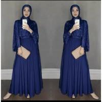 MAXY DRESS CAPE BRUKAT ALMAIRA ( 2 WARNA)