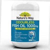 Minyak Natures Way Odourless Fish Oil 1000mg - 200 caps BPOM