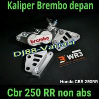 Kaliper Brembo CBr 250rr 4piston 1 pin depan non abs with br Asv 10136