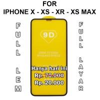 Tempered glass 5D iPhone X - XS - XR - XS Max anti gores full layar hp - iPh X