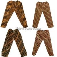celana panjang batik Betawi/celana Boim untuk dewasa - Cokelat