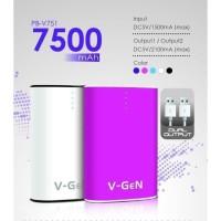 POWER BANK V-GEN PB-V751 7500mah garansi 1tahun