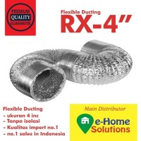 Alumunium flexible 4 inch 18 meter diameter 10 cm + aksesoris