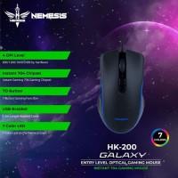 eskripsi NYK HK200 GALAXY Macro Gaming Mouse RGB Nemesis HK 200 TECHN